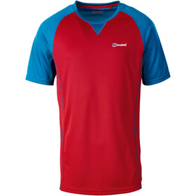Berghaus Tech 2.0 Tee SS Crew Baselayer Men Haute Red/Snorkel Blue